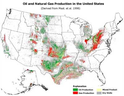 Map Of Natural Gas Reserves In Us US Oil And Gas Reserves Map | PAESTA