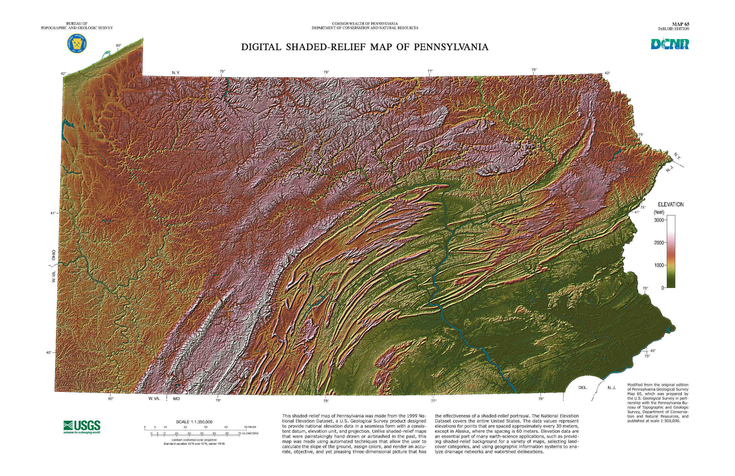 Classroom Event Ideas ~ Pa digital shaded relief map paesta