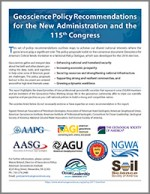 Geoscience Policy Recommendations for the New Administration and the 115th Congress