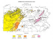 Pennsylvania coal map