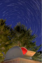 Star trails at Grier School in Tyrone, PA
