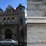 Building stone geology of First National Bank