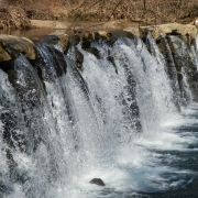 Waterfall at Sycamore Mills Dam, Ridley Creek State Park